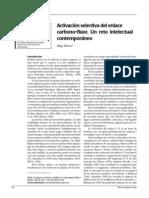 Activación selectiva del enlace carbono-flúor. Un reto intelectual contemporáneo