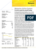 Malaysian Airline System Provisions spoilt the smooth landing