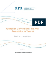 draft australian curriculum the arts foundation to year 10 july 2012 1