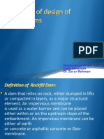 Principles of Design of Rockfilldams