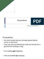 Presentacion Prepositions