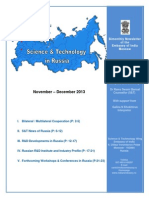Bimonthly Newsletter for Nov - Dec 2013 of S&T Wing, EOI Moscow