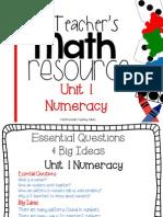 A Teachers Math Resource Unit Numeracy Free