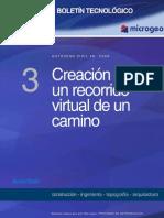 Boletin n3 Creacion de Un Recorrido Virtual de Un Camino