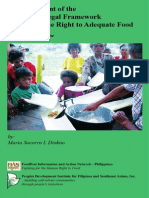 An Assessment of the Philippine Legal Framework Governing the Right to Adequate Food - A Summary Review