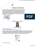Using Outlook 2003 With the Firewall Client