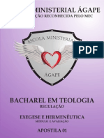 EXEGESE E HERMENÊUTICA - APOSTILA 01