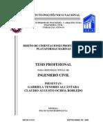 Diseño de cimentaciones profundas en plataformas marinas - Tesis