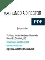 Panduan Menggunakan Macromedia Director