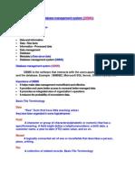 Database Management System