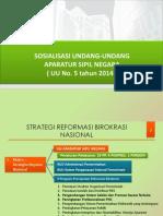 Sosialisasi UU No 5 Th 2014 Ttg ASN