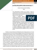 Cerutti - Propuesta para una filosofía política latinoamericana