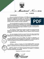 directiva del año escolar 2013