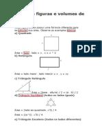 Áreas de figuras e volumes de sólidos
