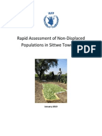 Assessment Agri Rapid Assessmentof Non-Displaced Populations Tsp Sittwe WFP Jan2013