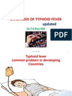 DIAGNOSIS OF TYPHOID FEVER                              updated