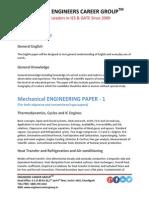 IES Syllabus Mechanical Engineering