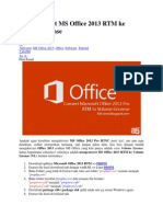 Cara Convert MS Office 2013 RTM Ke Volume License