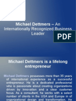 Michael Dettmers – An Internationally Recognized Business Leader