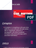 Growing Corruption in India