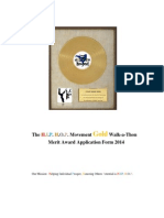 Walkathon-The Hip Hop Movement Gold Merit Award Application 2014