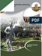 JNU Prospectus 2014