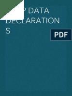 ABAP Data Declarations