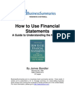How to Use Financial Statements_PDA