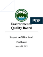 23. March Final Silica Sand Report