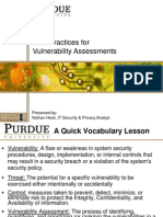 Vulnerability Assessment Best Practices