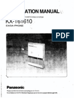 Panasonic KX-T61610 Installation & Programming