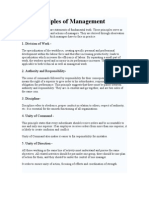 The Principles of Management
