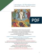 Fiche Bible 66 Transfiguration de Jésus