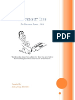 IIT D - Placement tips