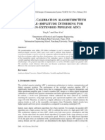 A Digital Calibration Algorithm With Variable-Amplitude Dithering for Domain-Extended Pipeline ADCs