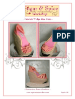 Tutorial Wedge Shoe Cake by Sugar & Spice Cakes