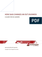How SaaS Changes an ISVs Business--Chappell v1.0