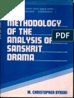 Methodology of the Analysis of Sanskrit Drama - M Christopher Byrski