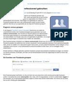 Talkingheads.be-facebook Groepen Professioneel Gebruiken
