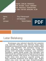 Sistem Cerdas Tony Febriansyah (0910952036)