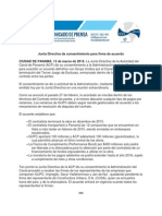 Panama Canal Authority statement | March 13, 2014 (Spanish)