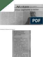 Noticia sobre la candidatura del Dr. Orengo en el periódico La Estrella de PR.