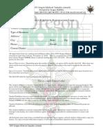 OMCA 2009 Vendor Form