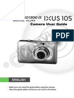 Canon Powershot SD1300 is Manual