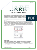 Tips for Academic Writing