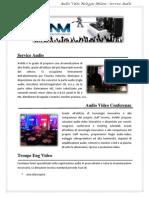 Audio Video Post Produzione service milano