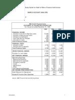 Sample Account Analysis