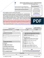 CWI Application Form 2014