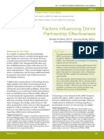 Factors Influencing Donor Partnership (1)