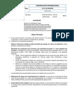 Acta N°01 Comité de Calidad   Enero 28-14
